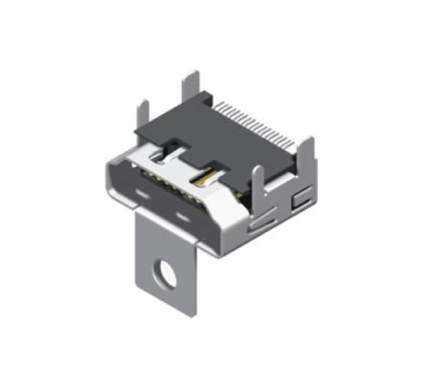 HDMI Female 19 Pin SMT Type With Flag