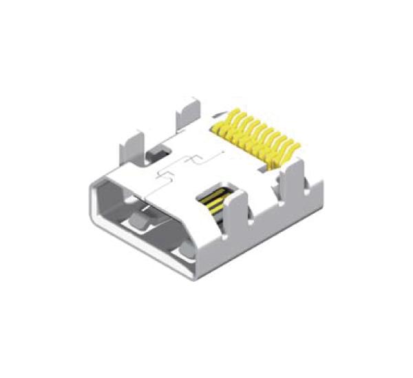 Mirco HDMI Female 19 Pin SMT Type_1