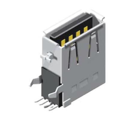 USB Female Dip Upright A Type_1