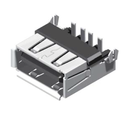 USB Female Reverse Flat Dip 90° A Type_1