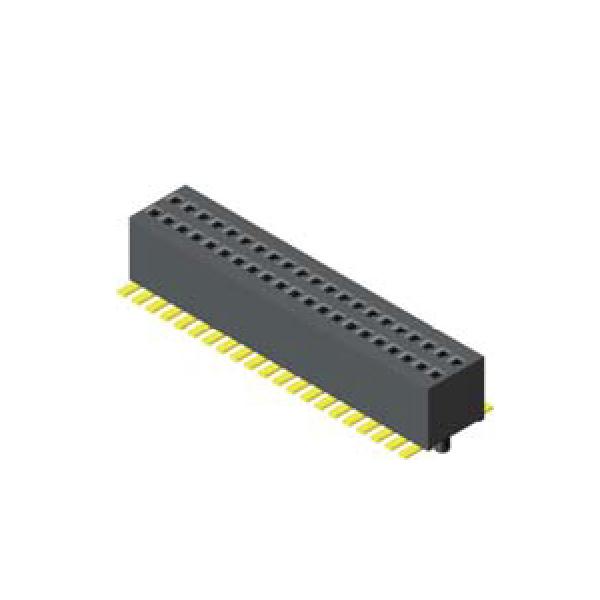 Buchsenleiste 0.8mm 2 reihig H=3.10mm SMT Type