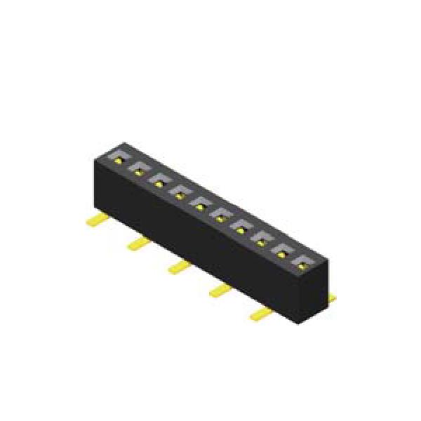 Buchsenleiste 1.0mm 1 -reihig H=2.05mm SMT Type