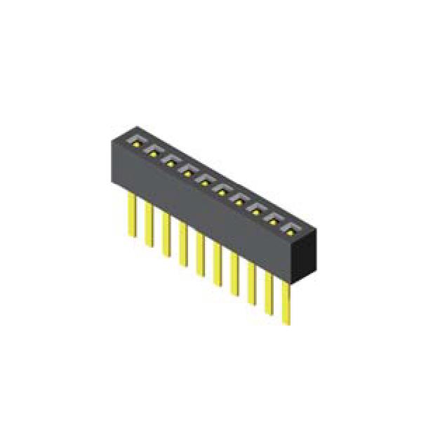 Buchsenleiste 1.0mm 1 -reihig H=2.10mm gerade
