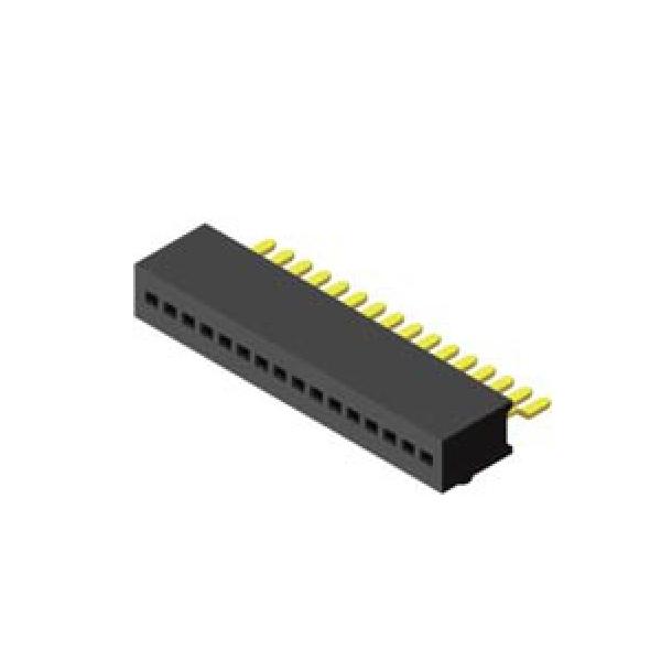 Buchsenleiste 1.0mm 1 -reihig H=3.7mm SMT 90°