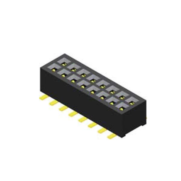 Buchsenleiste 1.0mm 2 -reihig H=2.05mm SMT Type