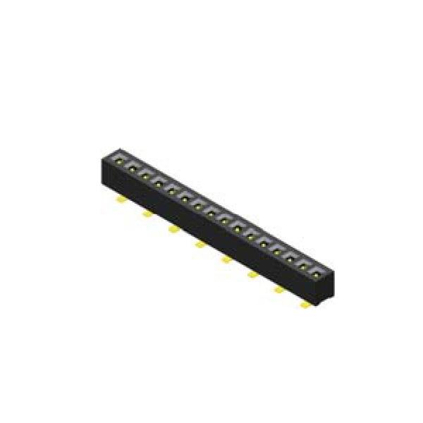 Buchsenleiste 1.27mm 1 -reihig H=2.1mm SMT Type