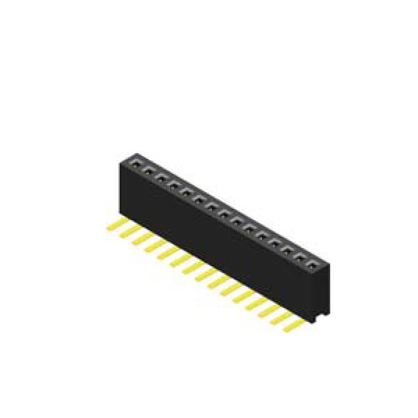 Buchsenleiste 1.27mm 1 -reihig H=4.4mm 90°