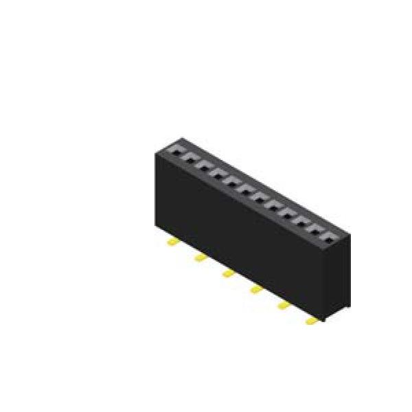 Buchsenleiste 1.27mm 1 -reihig H=5.7mm SMT Type