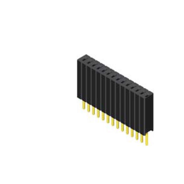 Buchsenleiste 1.27mm 1 -reihig H=8.5mm gerade