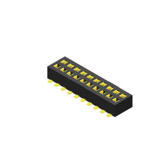 Buchsenleiste 1.27mm 2 -reihig H=2.0mm durchsteckbar SMT Type
